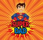 超人父亲节矢量