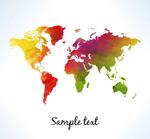 彩色世界地图