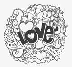 爱心元素涂鸦矢量