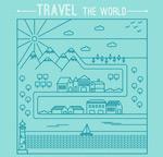 手绘旅行路线图