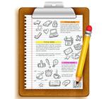 记事本商务信息图