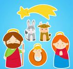 卡通耶稣诞生角色