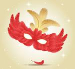 羽毛面具设计矢量