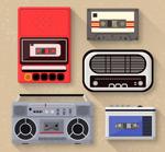 复古磁带与录音机