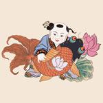 连年有鱼中国娃娃