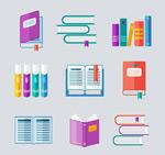 彩色书本矢量