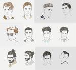男性素描人物