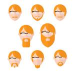 橙色头发男子头像