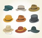 时尚帽子矢量