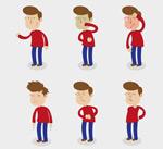 生病的红衣男子