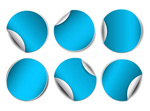 蓝色圆形贴纸
