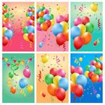 彩色气球卡片