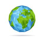 抽象蓝色地球矢量