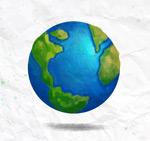 水彩蓝色地球