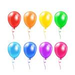 彩色气球矢量