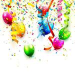 气球和碎纸屑