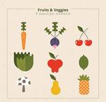 抽象蔬果矢量