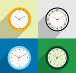 彩色时钟矢量