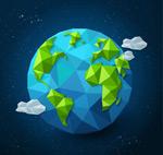蓝色地球矢量