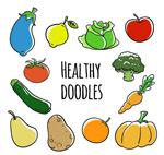 卡通蔬菜水果矢量
