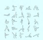 瑜伽姿势矢量