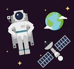 宇航员和卫星