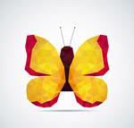 抽象黄色蝴蝶