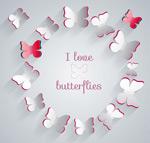 剪纸纸质蝴蝶