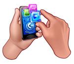 手机操作矢量
