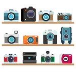 木架上的照相机