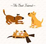 可爱宠物狗矢量