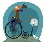 骑自行车的男子