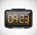 黑色电子钟设计