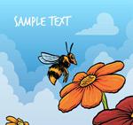 采蜜的蜜蜂矢量