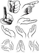 手势矢量素材