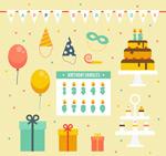 生日派对装饰元素