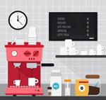 咖啡机和杯具