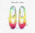 水彩绘运动鞋矢量