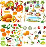 新鲜蔬果矢量