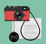红色照相机矢量