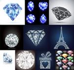 水晶钻石矢量