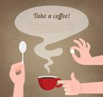 冲咖啡的手臂