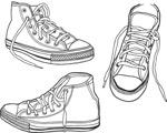 线条勾勒运动鞋