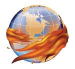 火焰环绕的地球