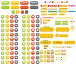 网页彩色按钮元素