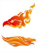 雄鹰火焰印花图案