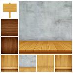 木板展台背景
