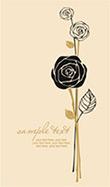 手绘玫瑰花图案