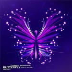 紫色科幻蝴蝶