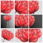 红色气球矢量
